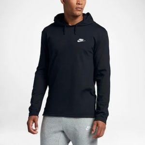 Nike Mens Club Black Pull-Over Hoodie